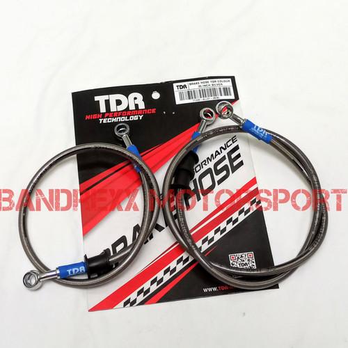Foto Produk Paket Selang Rem TDR Black Carbon R15-R25-Satria FU-Ninja 250-GSX-MT25 - Silver dari Bandrexx Motorsport