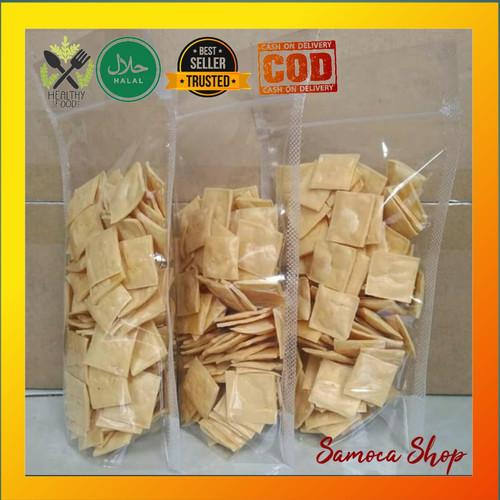 Foto Produk Keju Chips Panggang Renyah Cemilan Sehat Diet keto DEBM kemasan 55gr - Original, pouch 55gr dari Samoca Shop