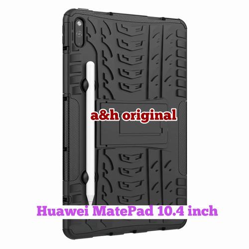 Foto Produk Huawei Matepad 10.4 inch - Rugged Armor Defender Hard Case Cover Stand - List Merah dari a&h original