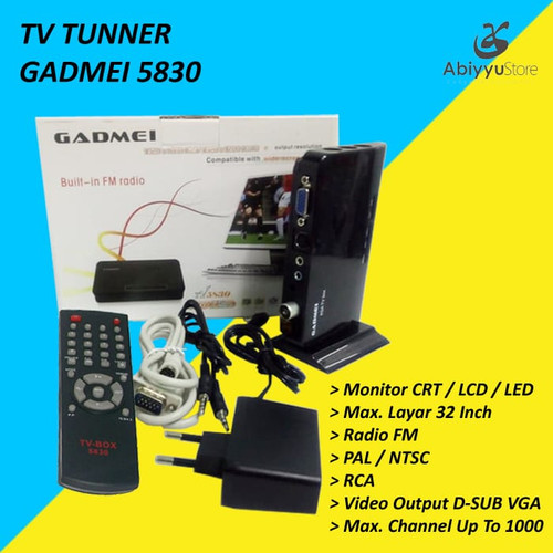 Foto Produk TV Tunner / TV Tuner Gadmei 5821 For Monitor CRT/LCD/LED dari Abiyyu Store