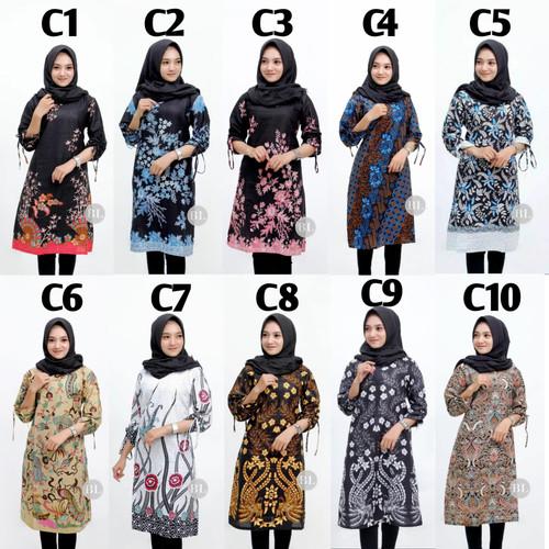 Foto Produk M-XXL / Baju Atasan Kerja Wanita / Seragam kuliah / Tunik batik Modern - M.L.XL dari Bajukuuh