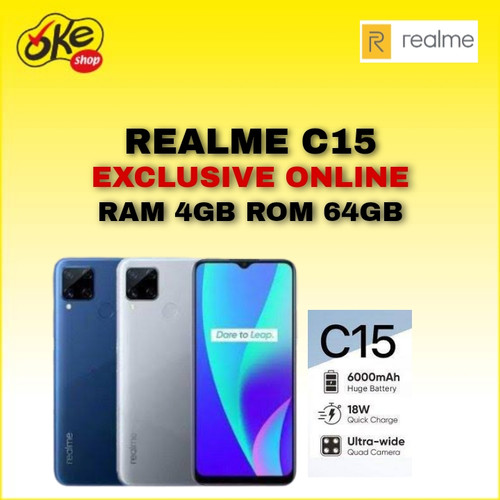 Foto Produk Realme C15 Smartphone (4/64GB) - Marine Blue dari OKESHOP