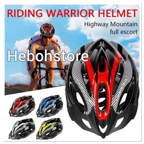 Foto Produk Helm helmet riding warrior unisex bagus L 005 terbaru - Merah dari Hebohstore