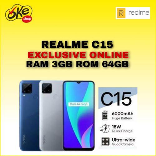 Foto Produk Realme C15 Smartphone (3/64GB) - Seggul Grey dari OKESHOP