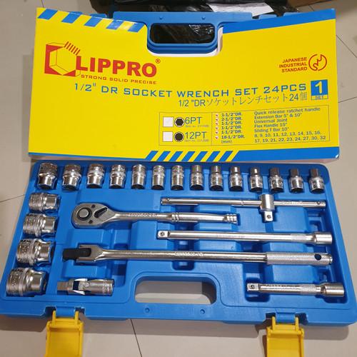 Foto Produk KUNCI SOK SET LIPPRO 24 PCS BOX PLASTIK SOCKET SET LIPRO 24PCS dari karya pratama abadi
