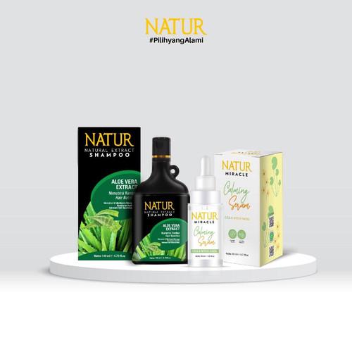 Foto Produk Natur Miracle Calming Face Serum : Cica & Witch Hazel & Natur Shampoo dari AZALEA OFFICIAL STORE