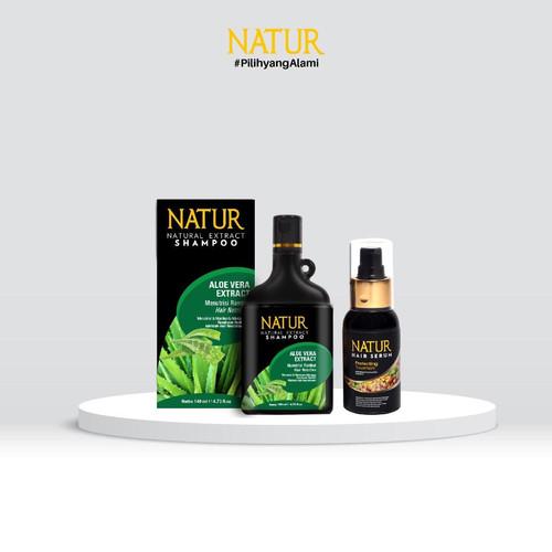 Foto Produk Natur Hair Serum 60 Ml & Natur Shampoo dari AZALEA OFFICIAL STORE