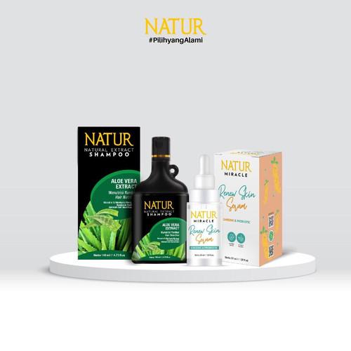 Foto Produk Natur Miracle Renew Skin Face Serum & Natur Shampoo dari AZALEA OFFICIAL STORE