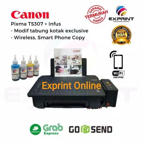 Foto Produk Printer Canon Pixma TS307 Wireless + infus Box - Tinta Standar dari Exprint online