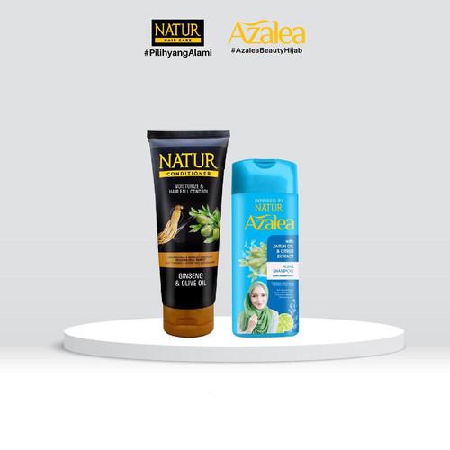 Foto Produk Azalea Shampoo Citrus Extract 180 ML & Natur Conditioner 165 ml dari AZALEA OFFICIAL STORE