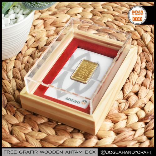 Foto Produk GRATIS GRAFIR - Kotak Mahar Seserahan Tempat Emas Antam Kayu Akrilik dari Jogja Crafts