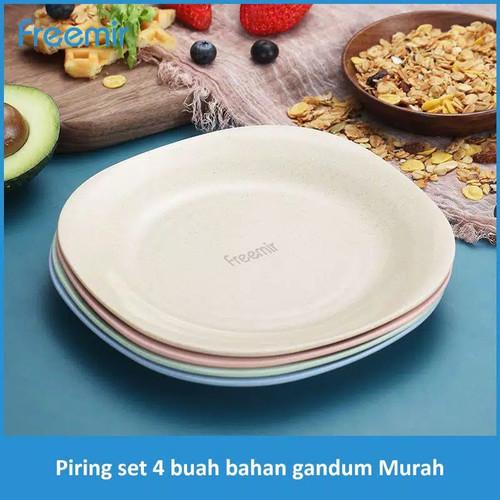 Foto Produk Freemir Piring Makan Wheat Straw Oval Plate Warna warni Set 4 Pcs dari Bajuku Official