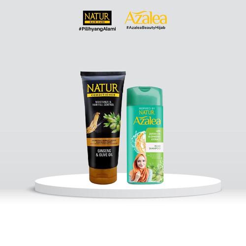 Foto Produk Azalea Hijab Shampoo 180 ML & Natur Conditioner 165 ml dari AZALEA OFFICIAL STORE