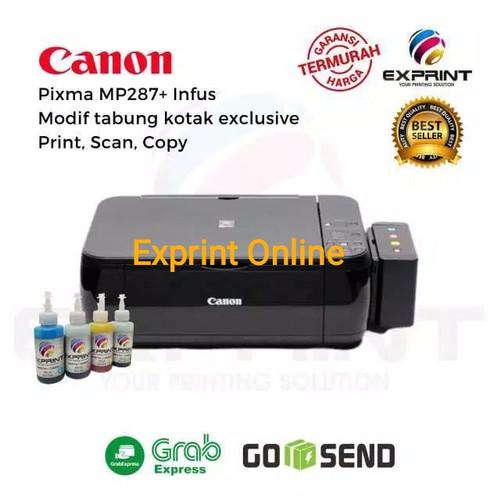 Foto Produk Printer Canon Pixma Mp287 + infus tabung Kotak - Tinta Standar dari Exprint online