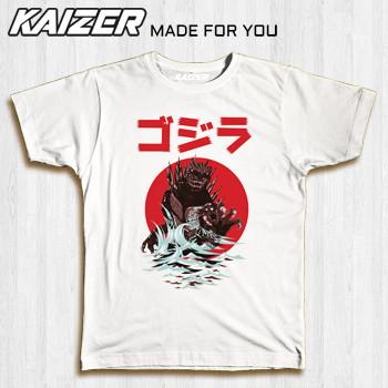 Foto Produk KAIZER RH-0751 Kaos Godzilla - Gojira - Movie - Putih, S dari KAIZER WEAR