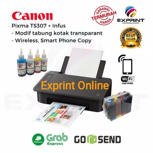 Foto Produk Printer Canon Pixma TS307 Wireless + infus - Tinta Standar dari Exprint online
