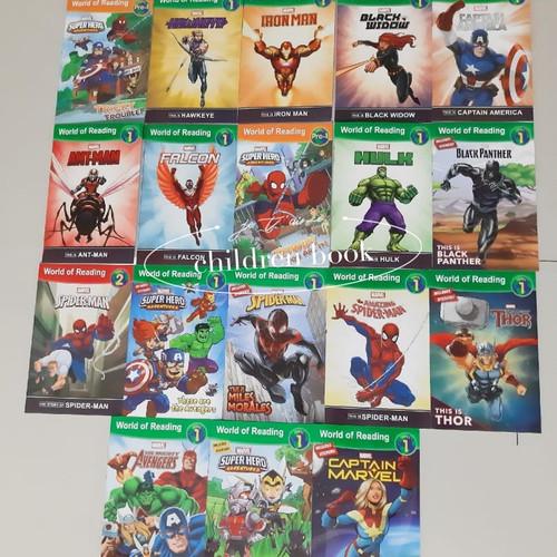 Foto Produk Disney World of Reading Marvel 18 books dari children book