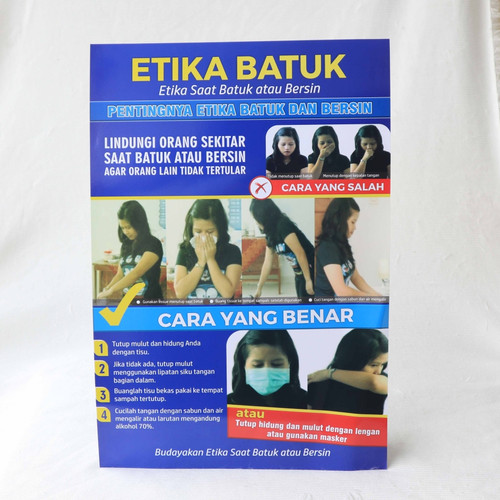 Foto Produk Poster Etika Batuk versi Cetakan Baru dari Syafana