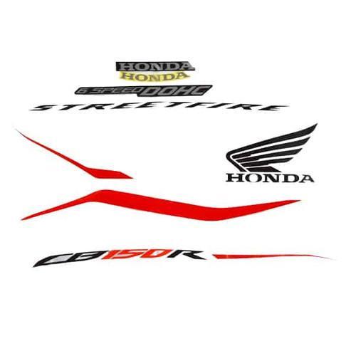 Foto Produk Sticker Body Stripe Set L White New CB150R StreetFire K15M 871X0K15680 dari Honda Cengkareng