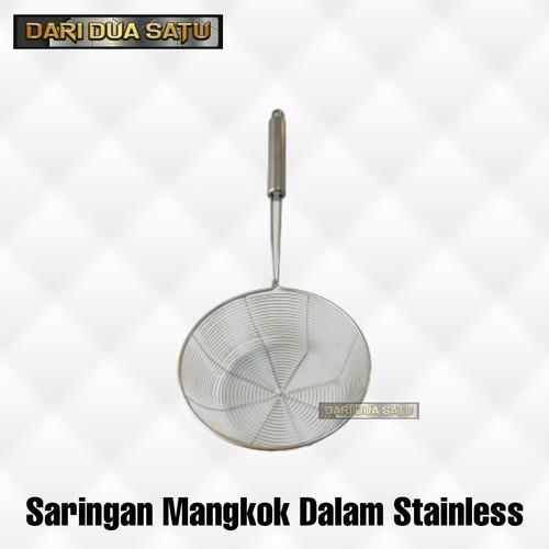 Foto Produk Saringan Mangkok Dalam Stainless Serok Tirisan Mie Sayur - 20 cm dari DariDuaSatu