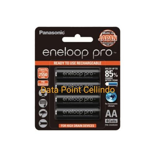 Foto Produk Baterai isi ulang Rechargeable Panasonic Eneloop Pro AA A2 2550mAh - PD LAMA dari Data Point Cellindo