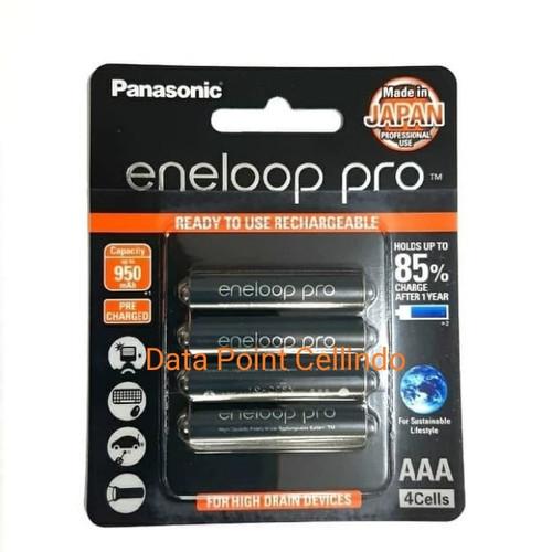Foto Produk Baterai Panasonic Eneloop Pro A3 /Battery rechargeable AAA 950mAH 4pcs dari Data Point Cellindo