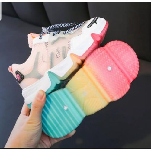 Foto Produk Sepatu anak perempuan Casual Sneaker Non LED Korea Style Fashion Anak - 28 dari Radium