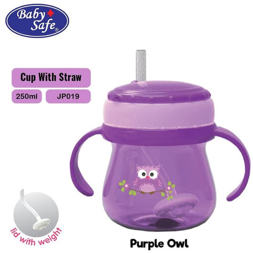 Foto Produk Baby Safe JP019 Cup Weighted Straw Gelas Sedotan - Ungu dari i do my hobbies