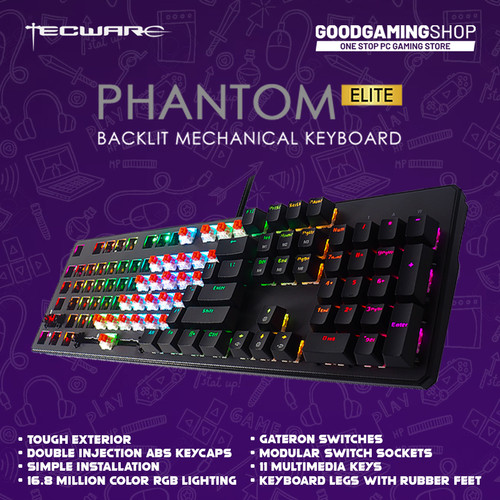 Foto Produk Tecware Phantom Elite 104 - Gaming Keyboard - Gateron Green dari GOODGAMINGM2M