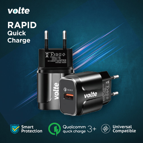 Foto Produk VOLTE RAPID Kepala Charger 1 port USB-A Charger Quick Charge 3.0 dari volte indonesia