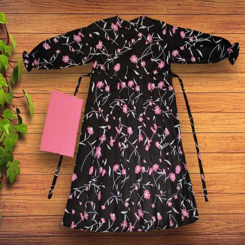 Foto Produk Gamis Rempel Anak bunga hitam - L dari YKS_STORE01