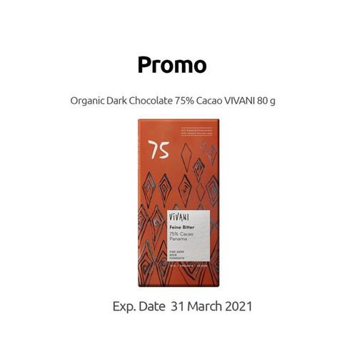 Foto Produk Vivani - Fine Dark 75% Cocoa with Coconut Blossom Sugar - 80 g dari SESA Official