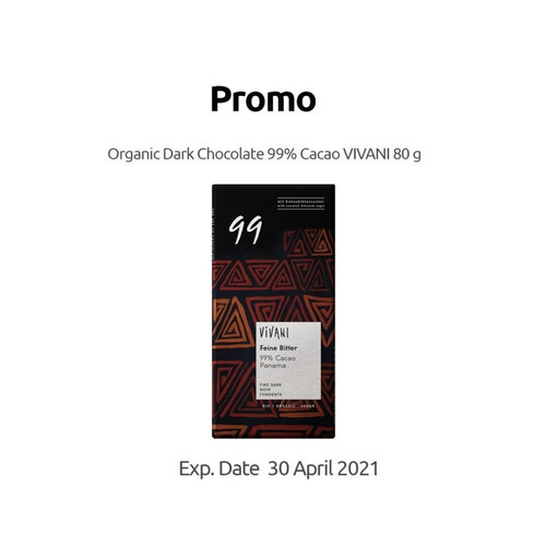 Foto Produk Vivani - Fine Dark 99% Cocoa - 80 g dari SESA Official