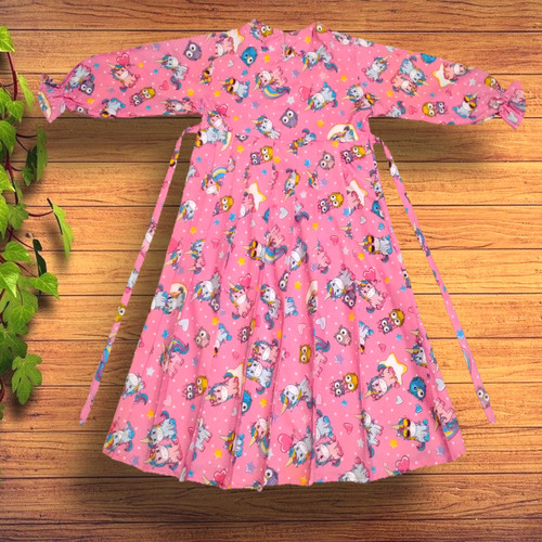 Foto Produk Gamis Rempel Anak Pink - M dari YKS_STORE01
