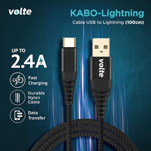 Foto Produk VOLTE KABO LIGHTNING Kabel Iphone / Lightning USB (100cm) dari volte indonesia
