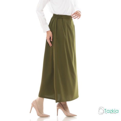 Foto Produk Bawahan Muslim Wanita   Basic Skirt Army   Rok Polos   Tazkia Hijab - Army dari Tazkia Hijab Store