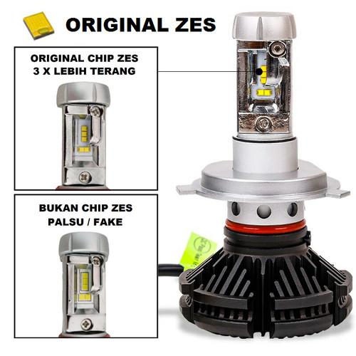 Foto Produk Lampu LED X3 ORIGINAL ZES Mobil H1 H3 H4 H7 H11 HB3 HB4 3 Warna Motor - H11 dari Garuda LED