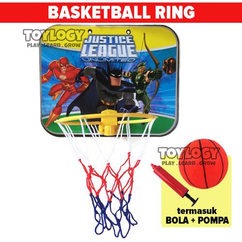 Foto Produk Mainan Olahraga Basketball Papan Ring Bola Basket Jaring Keranjang - Multicolor dari Toylogy