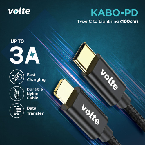 Foto Produk VOLTE KABO PD (power delivery) Kabel Type C to iphone/Lightning 100cm dari volte indonesia