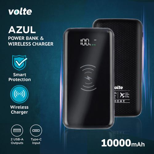 Foto Produk VOLTE AZUL WIRELESS POWERBANK 10.000 Mah (free small micro cable) dari volte indonesia