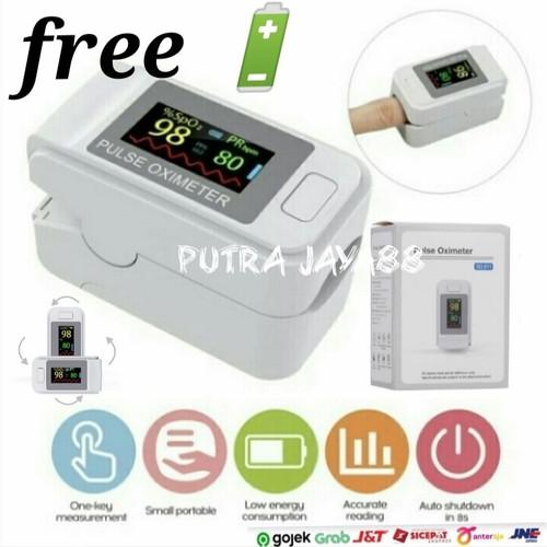 Foto Produk Fingertip Pulse oximeter alat ukur detak jantung oksimeter dari Putra Jaya88