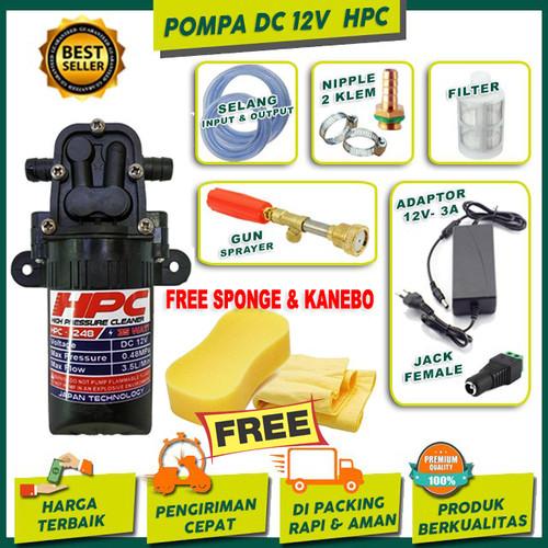 Foto Produk Paket Hemat Pompa DC 12V High Pressure Cleaner Alat Cuci Mobil & Motor dari Toko alat bengkel