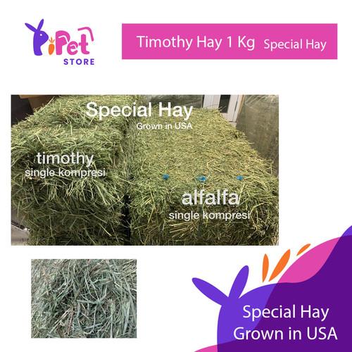 Foto Produk Timothy Hay 1kg Special Hay-Rumput Timothy hay 1 kg makanan kelinci dari Pi PET