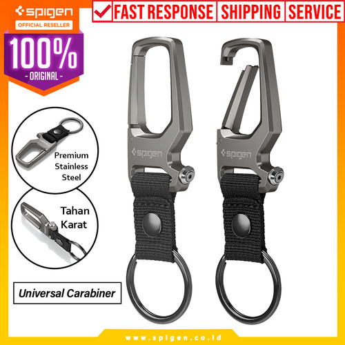 Foto Produk Gantungan Carabiner Spigen with Key Ring Key Chain Hook Kunci dari Spigen Official