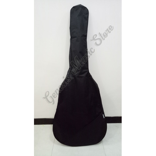 Foto Produk Tas Gitar Klasik Akustik / Elektrik Softcase Ransel - Kanvas Tebal, Hitam dari Genesis Music Store