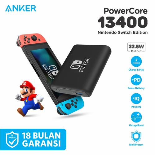 Foto Produk PowerBank Anker PowerCore Nintendo Switch 13400mAh PD Black - A1241 dari Anker Indonesia