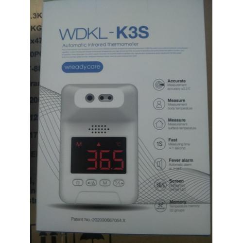 Foto Produk WDKL K3S Wreadycare Termometer dinding Infrared Non Contact Otomatis dari Toko Uniq