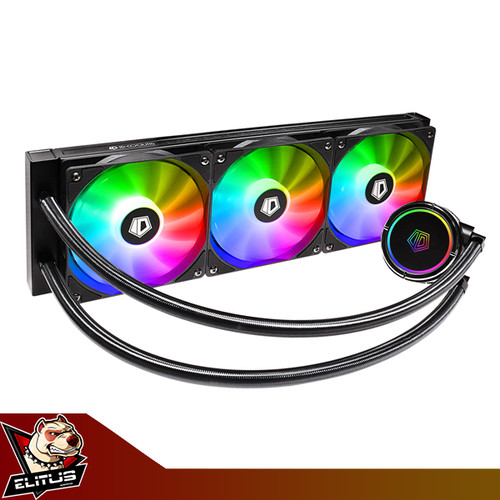 Foto Produk ID-Cooling ZoomFlow 360x ARGB 360mm 3 Fan Liquid Cooler dari ELITUS GAMING