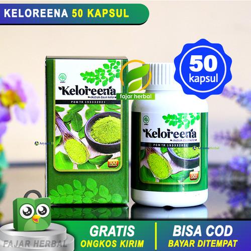 Foto Produk Keloreena 50 Kapsul 100% ASLI - Obat Herbal Ekstrak Daun Kelor Moringa dari Toko Fajar Herbal