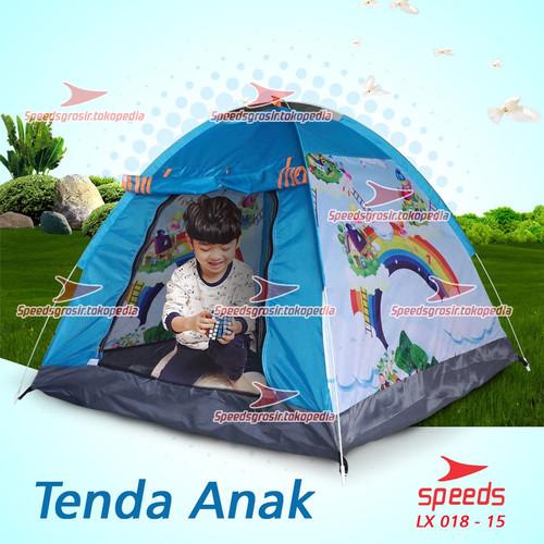 Foto Produk TENDA ANAK KARAKTER KARTUN TERMURAH New 018-15 - Biru dari Speeds Official Store